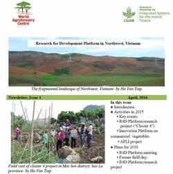 State of Integrated Systems Research in NW Vietnam: First R4D Platform Newsletter