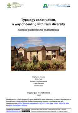 Typology construction, a way of dealing with farm diversity