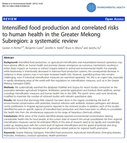 Intensified food production and correlated risks to human health in the Greater Mekong Subregion: a systematic review