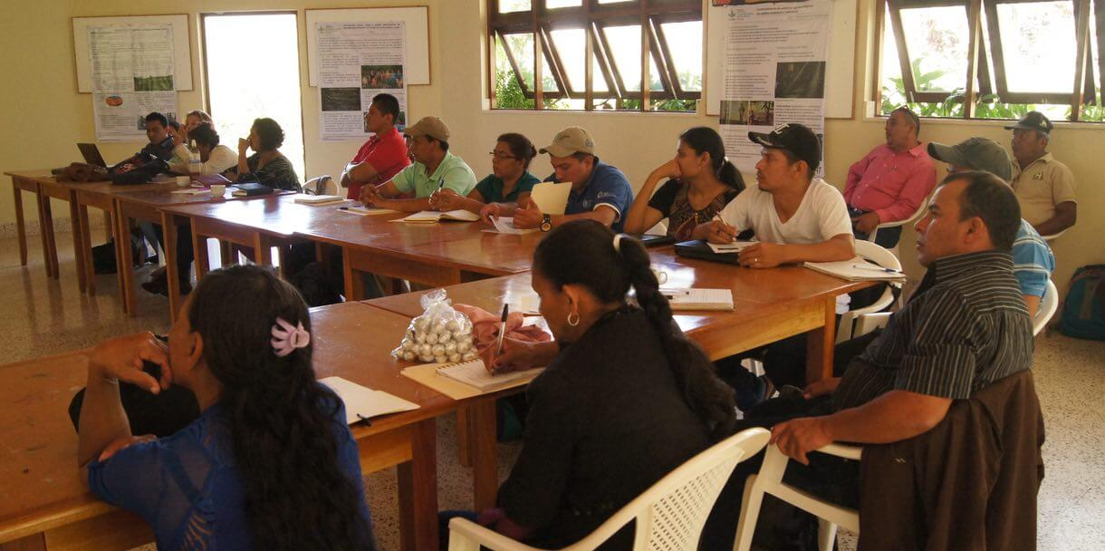 Participants at the Forum of the Three Territorial Learning Alliances in Matagalpa, Nicaragua.